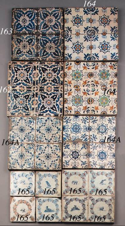 eight haarlem ornamental tiles