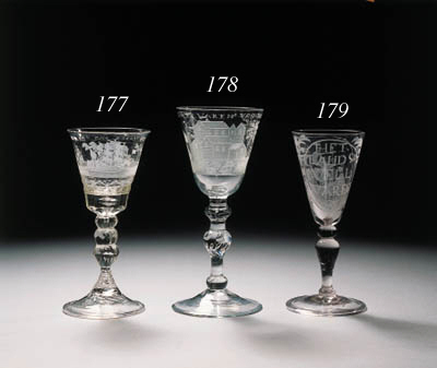 a dutch-engraved wine-glass