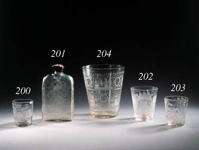 seven various glass items