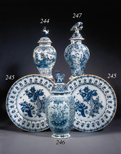 six various dutch delft blue a