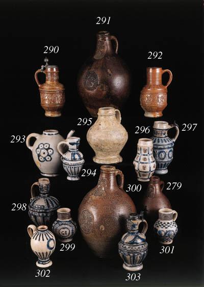 a raeren stoneware jug and pew