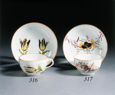 a meissen 'marcolini' cup and