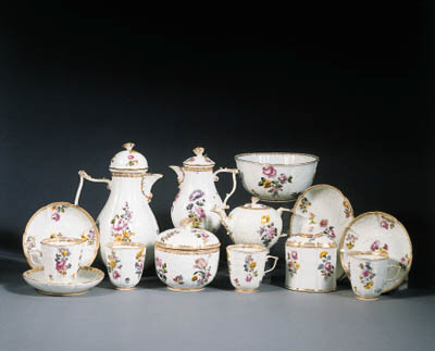 a meissen tea and coffee servi