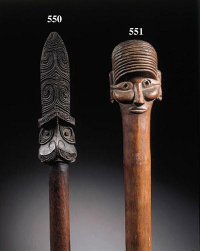 a maori wood long club
