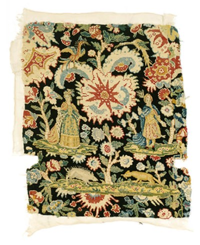 A FRENCH GROS AND PETIT POINT