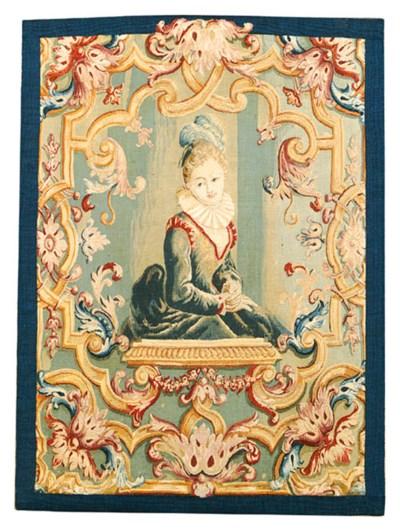 A LOUIS XVI PORTRAIT TAPESTRY