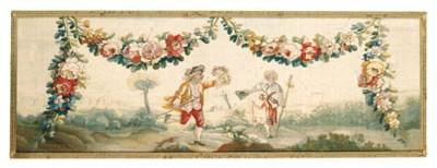 A LOUIS XVI PASTORAL TAPESTRY