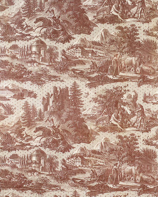 SIX VARIOUS LENGTHS OF TOILE