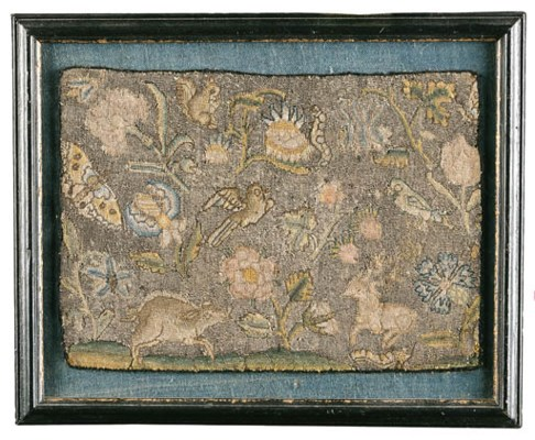 AN ENGLISH NEEDLEWORK PANEL