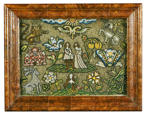 AN ENGLISH BEADWORK PICTURE