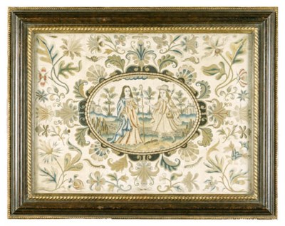 AN ENGLISH EMBROIDERED NEEDLEW