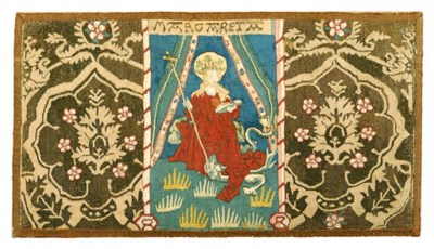 A GERMAN RELIGIOUS TAPESTRY PA