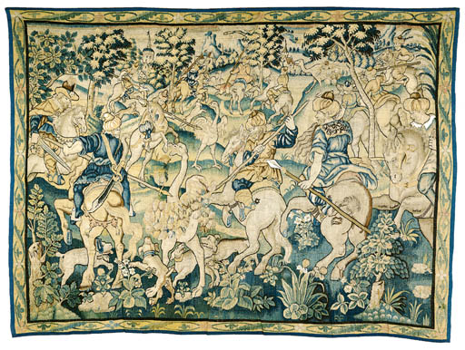 A MARCHE GAME-PARK TAPESTRY