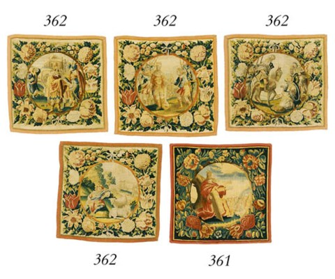 AN MATCHED SET OF FOUR FLEMISH