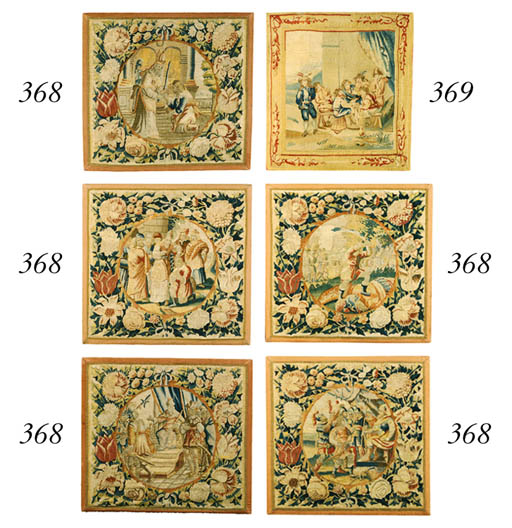 A SET OF FIVE FLEMISH BIBLICAL