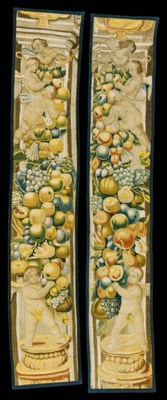 A PAIR OF BRUSSELS TAPESTRY BO