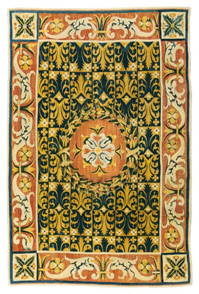 A SPANISH TABLE CARPET