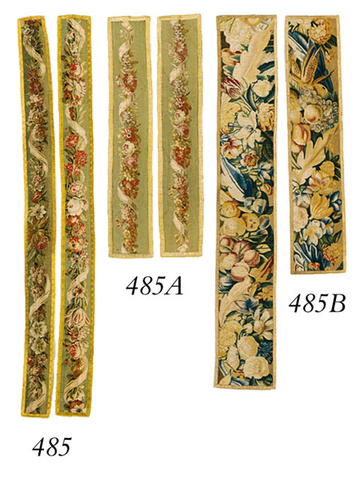 A PAIR OF FRENCH TAPESTRY BORD