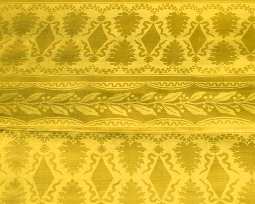 A JOINED COVERLET OF YELLOW SI