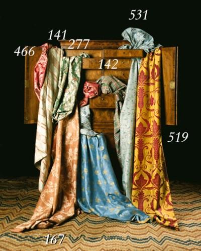 THREE BORDERS OF PURPLE SATIN
