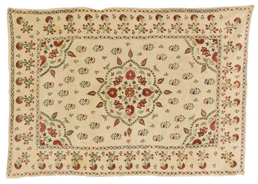 AN INDIAN QUILTED COVERLET