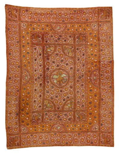 AN INDO-PORTUGUESE COVERLET OF