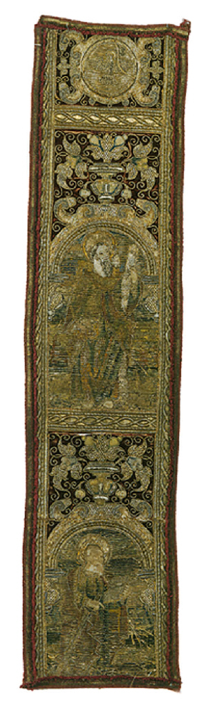 AN ORPHREY PANEL OF CRIMSON VE