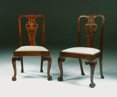 A PAIR OF GEORGE II BLACK-WALN