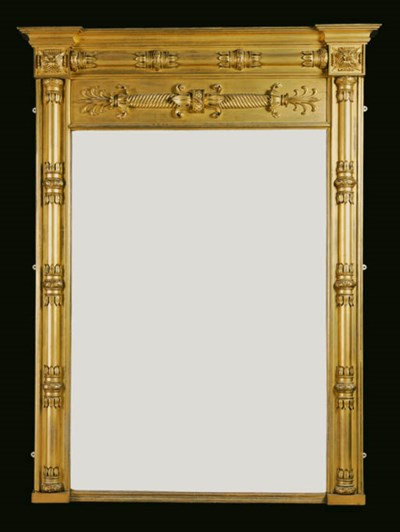 A GEORGE IV GILTWOOD OVERMANTE
