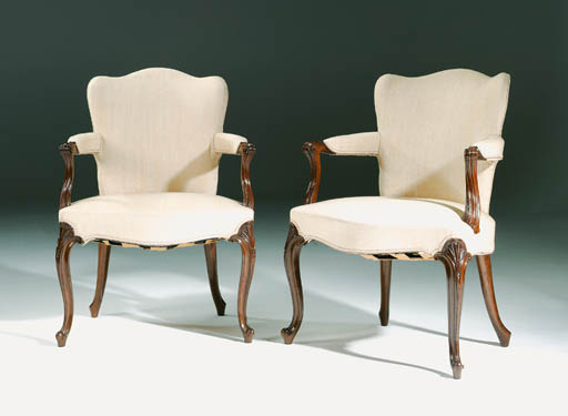 A PAIR OF GEORGE III MAHOGANY