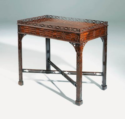 A GEORGE III MAHOGANY CENTRE T