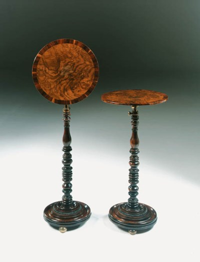 A PAIR OF GEORGE IV ROSEWOOD,