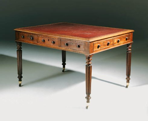 A GEORGE IV MAHOGANY WRITING-T