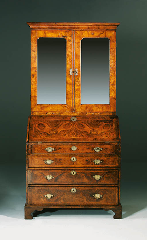 A GEORGE II FIGURED-WALNUT BUR