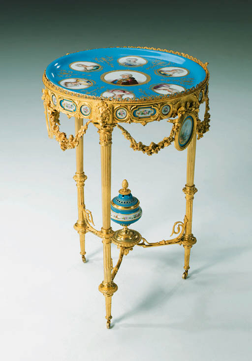 A French ormolu and Sevres-pat