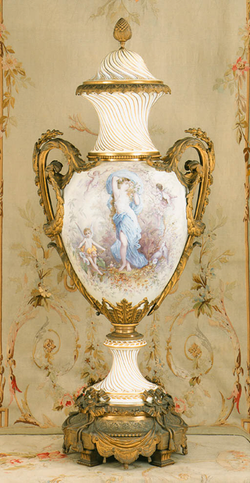 A large ormolu-mounted Sevres-