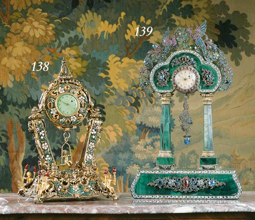 A Viennese silver-gilt, enamel