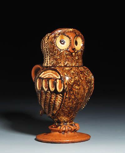 A Staffordshire slipware owl-j