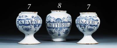 A pair of Lambeth delft blue a
