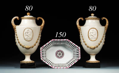 A pair of Marieberg pearlware