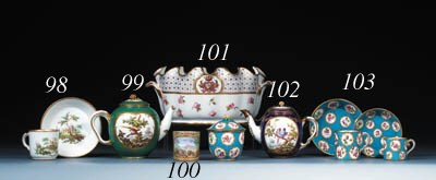 A Sevres coffee-cup and a sauc