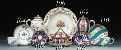 A Sevres soup-plate from the P