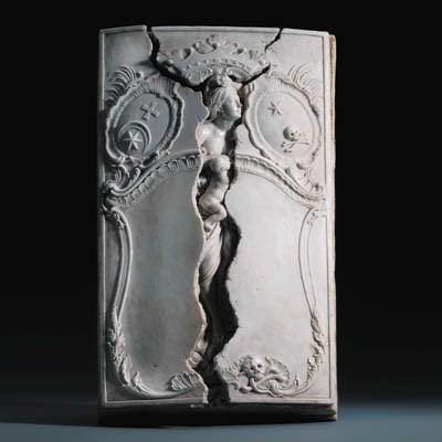 A Nyon white funerary monument