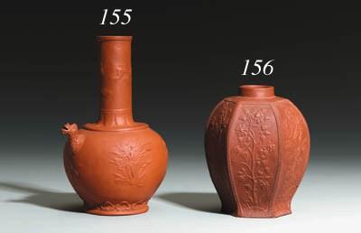 A Bttger red stoneware sake ew