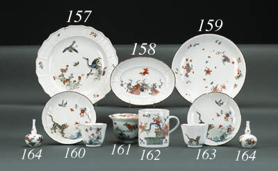 A Meissen Kakiemon shaped plat