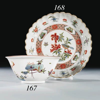 A Meissen fluted shallow bowl