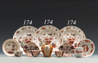 Three Meissen Kakiemon plates