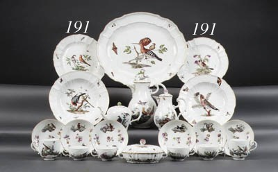A pair of Meissen ornithologic
