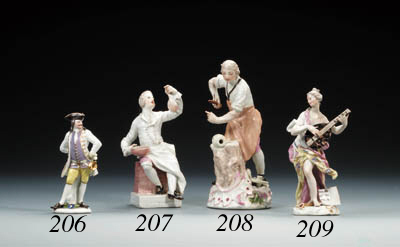 A Meissen figure of a cook