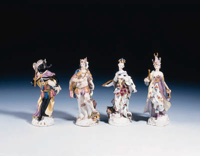 Four Meissen figures from the